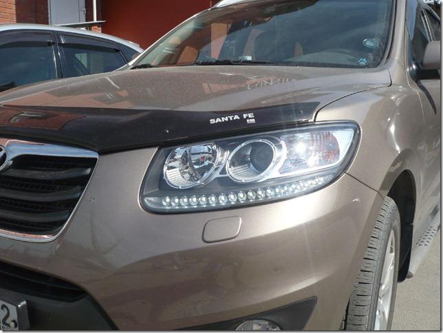 Светодиодные реснички Hyundai Santa fe 2011