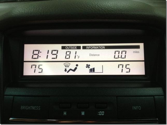 Конверсия (перевод мили–км, фаренгейты–цельсии ) Lexus RX330 2004г. из Америки