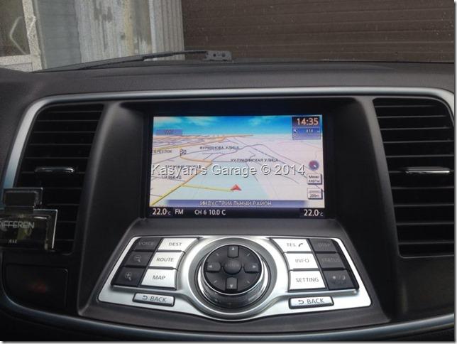 Установка навигации Xanavi на Nissan Teana