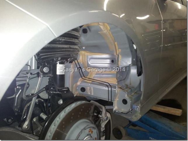Шумоизоляция арок Mercedes E300