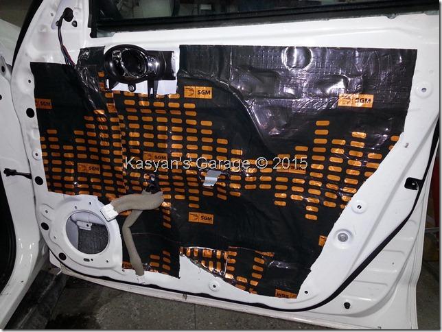 Шумоизоляция дверей Nissan Juke
